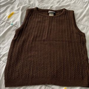 Sweaters - Pretty brown sleeveless summer sweater